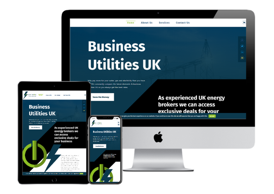 RS Whybrow Utility Consultants Website Design